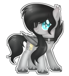 Size: 1164x1286 | Tagged: artist:spectrumnightyt, bat pony, eyepatch, female, mare, oc, oc:walpurgis nacht, pony, safe, simple background, solo, transparent background