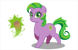 Size: 2753x1770 | Tagged: safe, artist:alpaca-pharaoh, spike, pony, unicorn, barb, looking at you, ponified, ponified spike, rule 63, solo, species swap