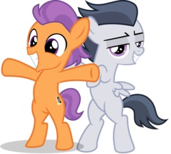 Size: 1028x928 | Tagged: artist:frownfactory, artist:jawsandgumballfan24, artist:sollace, bipedal, colt, cute, earth pony, edit, gay, male, movie reference, pegasus, pony, rumble, safe, shipping, simple background, smiling, tender taps, titanic, transparent background