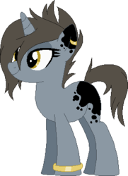 Size: 278x385 | Tagged: adoptable, artist:cookie-dolls, base used, bracelet, coat markings, ear piercing, earring, female, hair over one eye, jewelry, mare, oc, oc only, piercing, pony, safe, simple background, solo, transparent background, unicorn, unnamed oc