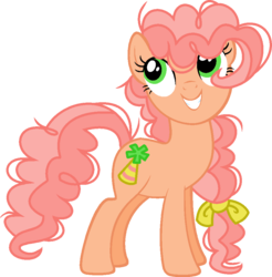 Size: 924x940 | Tagged: artist:cookie-dolls, base used, bow, earth pony, female, frizzy hair, hair bow, mare, oc, oc only, oc:peachy party, offspring, parent:cheese sandwich, parent:pinkie pie, parents:cheesepie, pony, safe, solo