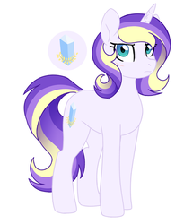 Size: 1636x1996 | Tagged: artist:darlienjenter16, female, mare, oc, oc:heartbeat, offspring, parent:princess cadance, parent:shining armor, parents:shiningcadance, pony, safe, simple background, solo, unicorn, white background