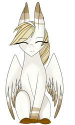 Size: 1378x2297 | Tagged: artist:su-star, eyes closed, female, mare, oc, oc:aurora, pegasus, pony, safe, simple background, sitting, solo, transparent background
