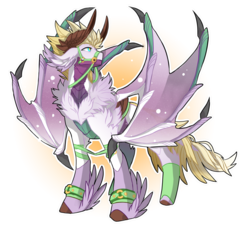 Size: 1500x1348 | Tagged: artist:taiga-blackfield, bat wings, dragon, horns, male, oc, oc only, oc:seras, original species, safe, simple background, solo, transparent background