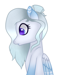 Size: 768x964 | Tagged: safe, artist:cindydreamlight, oc, oc:snow dream, pegasus, pony, bust, female, mare, portrait, simple background, solo, transparent background