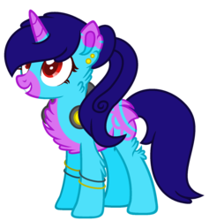 Size: 1024x1081 | Tagged: safe, artist:bloodlover2222, oc, oc:domino beat, pony, unicorn, female, headphones, mare, simple background, solo, transparent background