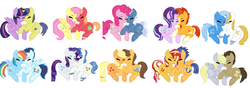 Size: 1024x359 | Tagged: safe, artist:belathecat2004, applejack, big macintosh, caramel, comet tail, derpy hooves, doctor whooves, fancypants, flash sentry, fluttershy, pinkie pie, pokey pierce, prince blueblood, rainbow dash, rarity, soarin', starlight glimmer, sunburst, sunset shimmer, time turner, trixie, twilight sparkle, alicorn, bluetrix, carajack, cometlight, doctorderpy, female, flashimmer, fluttermac, male, pokeypie, raripants, shipping, simple background, soarindash, starburst, straight, twilight sparkle (alicorn), white background