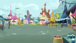 Size: 6667x3750 | Tagged: absurd res, artist:boneswolbach, background, market, no pony, ponyville, safe, scenery, street
