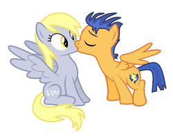 Size: 762x600 | Tagged: artist:themexicanpunisher, base used, derpsentry, derpy hooves, derpy hooves gets all the stallions, female, flash sentry, kissing, male, mare, pegasus, pony, safe, shipping, simple background, stallion, straight, white background
