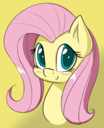 Size: 978x1200   Tagged: safe, artist:esfelt, fluttershy, pegasus, pony, blushing, bust, cute, female, looking at you, mare, portrait, shyabetes, smiling, solo