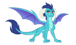 Size: 1500x900 | Tagged: artist:tamersworld, dragon, dragoness, dragon lord ember, female, princess ember, safe, simple background, smiling, solo, transparent background