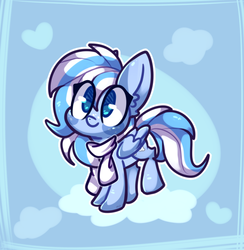 Size: 670x686 | Tagged: artist:freckles, artist needed, cute, oc, oc:falling skies, pegasus, safe