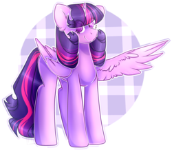Size: 2197x1912 | Tagged: alicorn, artist:anisa-mlp222, cute, female, looking at you, mare, missing horn, one wing out, pony, safe, simple background, smiling, solo, starry eyes, transparent background, twilight sparkle, twilight sparkle (alicorn), wingding eyes