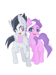 Size: 960x1280   Tagged: safe, artist:asktheinfiltrators, artist:larrykitty, diamond tiara, rumble, earth pony, pegasus, pony, cheek fluff, chest fluff, cute, female, fluffy, folded wings, hoof around neck, male, shipping, simple background, straight, tiarumble, transparent background