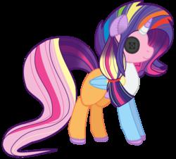 Size: 1024x927 | Tagged: safe, artist:leanne264, applejack, fluttershy, pinkie pie, rainbow dash, rarity, twilight sparkle, appleflaritwidashpie, doll, fusion, mane six, simple background, solo, toy, transparent background