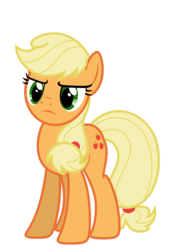 Size: 4839x7000 | Tagged: safe, artist:estories, applejack, pony, absurd resolution, female, hatless, missing accessory, simple background, solo, transparent background, vector