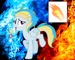Size: 2120x1688 | Tagged: artist:bronyponyyy2340, female, mare, oc, oc:thunder fire, offspring, parent:fire streak, parent:rainbow dash, parents:rainbowstreak, pegasus, pony, reference sheet, safe, solo