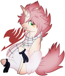 Size: 1024x1188 | Tagged: safe, artist:leanne264, pony, unicorn, base used, clothes, fairy tail, male, natsu dragneel, ponified, scarf, simple background, solo, stallion, transparent background