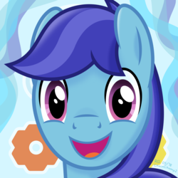 Size: 3300x3300 | Tagged: safe, artist:chainchomp2, derpibooru exclusive, oc, oc only, oc:sierra nightingale, pegasus, pony, avatar, bust, gift art, high res, looking at you, male, portrait, shading, signature, smiling, soft shading, solo, stallion, vector