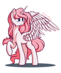 Size: 2000x2400 | Tagged: safe, artist:soulfulmirror, oc, oc:lilyana, alicorn, pony, alicorn oc, female, high res, mare, raised hoof, simple background, solo, starved for light, transparent background, wings