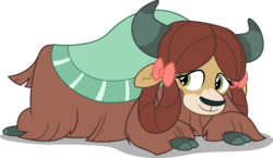 Size: 5160x3000   Tagged: safe, artist:dashiesparkle, yona, yak, non-compete clause, .svg available, absurd resolution, cloven hooves, cute, female, simple background, smiling, solo, transparent background, vector, yonadorable
