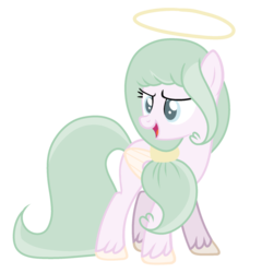 Size: 1024x1065 | Tagged: safe, artist:mintoria, oc, pegasus, pony, female, halo, mare, show accurate, simple background, solo, transparent background