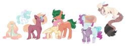 Size: 1453x535 | Tagged: adopted offspring, artist:jaysey, blank flank, clothes, colored hooves, colt, draconequus, draconequus oc, ear piercing, earring, earth pony, family, female, filly, fluttershy, freckles, hybrid, interspecies offspring, jacket, jewelry, male, missing cutie mark, oc, oc:evergreen, oc:frosty curls, oc:light spring, oc:mic drop, oc:yume, offspring, parent:big macintosh, parent:coloratura, parent:discord, parent:flitter, parent:fluttershy, parent:limelight, parent:lyra heartstrings, parents:flitterbulk, parents:limetura, parents:lyraburst, parents:timbershy, parent:sunburst, parents:vinylmac, parents:zecord, parent:timber spruce, parent:vinyl scratch, parent:zecora, pegasus, piercing, pony, ribbon, safe, shipping, simple background, socks (coat marking), straight, timbershy, timber spruce, transparent background, unicorn, unshorn fetlocks, veil