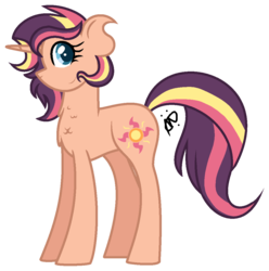 Size: 1065x1074 | Tagged: safe, artist:thepegasisterpony, oc, oc only, oc:amalthea, magical lesbian spawn, offspring, parent:sci-twi, parent:sunset shimmer, parents:scitwishimmer, simple background, solo, transparent background