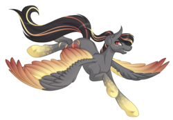 Size: 5875x4099 | Tagged: absurd res, artist:amazing-artsong, male, oc, oc:antares, pegasus, pony, rainbow power, safe, simple background, solo, white background
