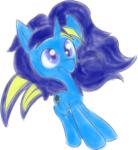 Size: 2194x2387 | Tagged: safe, artist:brsajo, oc, oc:electro swing, unicorn, colored sketch, solo