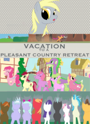 Size: 2084x2880 | Tagged: allie way, artist:sixes&sevens, big macintosh, blank face, button mash, caramel, cloudchaser, crowd, daisy, derpibooru exclusive, derpy hooves, dust cloud, fanfic, fanfic art, fanfic cover, flitter, flower trio, flower wishes, forest, lily, lily valley, looking back, oc, oc:hyacinth bouquet, pinkie pie, ponyville, pronking, rainbow dash, rarity, roseluck, safe, scootaloo, scooter, spike, sweetie belle, thunderlane