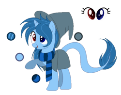 Size: 594x466 | Tagged: artist:mintoria, clothes, female, hat, heterochromia, mare, oc, oc:lapis enchant, pony, safe, scarf, simple background, solo, transparent background, unicorn, witch hat