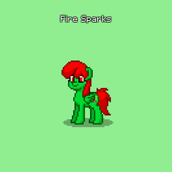 Size: 397x395 | Tagged: safe, artist:sb1991, oc, oc:fire sparks, pegasus, pony, pony town, update, updated