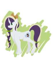 Size: 1024x1365 | Tagged: applejack's hat, artist:foxytthepiratefoxgir, cowboy hat, eyeshadow, female, hat, icey-verse, magical lesbian spawn, makeup, mare, next generation, oc, oc only, oc:rotten core, offspring, parent:mean applejack, parent:mean rarity, parents:mean rarijack, pony, safe, simple background, solo, transparent background, unicorn