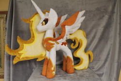 Size: 2256x1504   Tagged: safe, artist:whitedove-creations, daybreaker, alicorn, pony, commission, frown, irl, photo, plushie, solo, spread wings, toy, wings