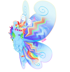 Size: 1024x1046 | Tagged: safe, artist:vanillaswirl6, rainbow dash, breezie, :<, >:<, breeziefied, cheek fluff, chest fluff, chin fluff, colored eyelashes, colored pupils, ear fluff, female, fluffy, flying, looking up, photoshop, rainbow breez, raised hoof, redraw, simple background, sparkles, species swap, transparent background, unshorn fetlocks