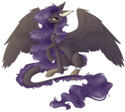 Size: 2676x2388 | Tagged: artist:monogy, augmented tail, clothes, female, high res, mare, oc, oc:ender heart, pegasus, pony, safe, simple background, socks, solo, transparent background