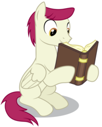 Size: 3951x4909   Tagged: safe, artist:dragonchaser123, sugar maple, pegasus, pony, marks for effort, absurd resolution, background pony, book, friendship student, male, open book, reading, simple background, sitting, solo, stallion, transparent background, vector