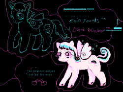 Size: 640x480   Tagged: safe, artist:ivyatoms, oc, oc:dark rainbow, oc:rain sounds