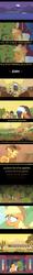 Size: 699x5874 | Tagged: safe, artist:ultrathehedgetoaster, edited screencap, screencap, applejack, bloomberg, over a barrel, appleloosa, comic, orchard, screencap comic, tree