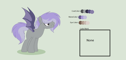 Size: 1200x572 | Tagged: artist:roseloverofpastels, bat pony, male, oc, oc:slate pie, parent:marble pie, parents:canon x oc, pony, reference sheet, safe, simple background, solo, stallion