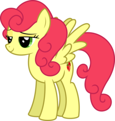 Size: 6400x6733 | Tagged: safe, artist:parclytaxel, strawberry sunrise, pegasus, pony, honest apple, .svg available, absurd resolution, female, lidded eyes, mare, simple background, solo, spread wings, strawberry savage, transparent background, vector, wings