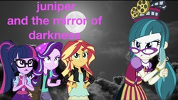 Size: 2048x1158   Tagged: safe, artist:php77, editor:php77, juniper montage, sci-twi, starlight glimmer, sunset shimmer, twilight sparkle, pony, equestria girls, mirror magic, spoiler:eqg specials, equestria girls in real life, irl, photo, ponies in real life, wallpaper