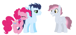 Size: 1052x487 | Tagged: artist:moonlightthegriffon, base used, male, oc, oc:frosted sugar clouds, offspring, parent:pinkie pie, parent:soarin', parents:soarinpie, pegasus, pinkie pie, pony, safe, shipping, simple background, soarin', soarinpie, stallion, straight, transparent background