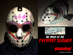 Size: 1640x1230 | Tagged: artist:adammasterart, crossover, custom, equestria girls, everfree slasher, friday the 13th, gaea everfree, gloriosa daisy, hockey mask, irl, jason voorhees, legend of everfree, mask, photo, safe, story included, timber spruce, toy