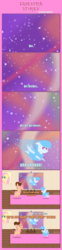 Size: 1205x4880 | Tagged: artist:estories, comic, female, mare, oc, oc:curly mane, oc:pink rose, oc:think pink, pointy ponies, pony, rule 63, safe, space, sunglasses, unicorn