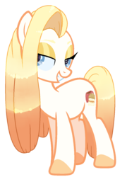 Size: 1006x1277 | Tagged: safe, artist:qatsby, oc, oc only, oc:coffee cake, earth pony, pony, base used, eyeshadow, female, lidded eyes, makeup, mare, offspring, parent:donut joe, parent:pinkie pie, parents:pinkiejoe, simple background, solo, transparent background