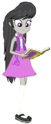Size: 173x415 | Tagged: safe, edit, edited screencap, editor:ilove-mlp18, screencap, octavia melody, equestria girls, equestria girls series, forgotten friendship, background removed, book, clothes, female, mary janes, shoes, simple background, skirt, socks, solo, transparent background