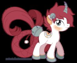 Size: 600x484 | Tagged: safe, artist:seiani, oc, oc:darcy, original species, pony, male, simple background, solo, transparent background