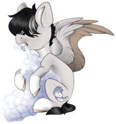 Size: 3179x3418 | Tagged: safe, artist:hellishprogrammer, oc, oc:cloudy shapes, pegasus, pony, cloud, high res, male, nom, simple background, solo, stallion, transparent background
